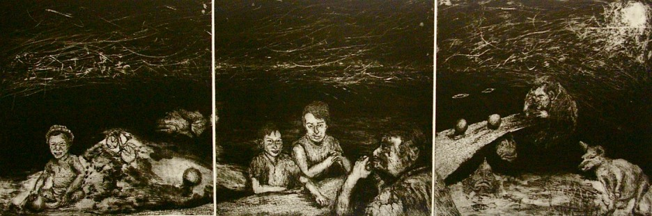 Etching, Dry-point and aquatint,  40 x 121 cm, edition of 18