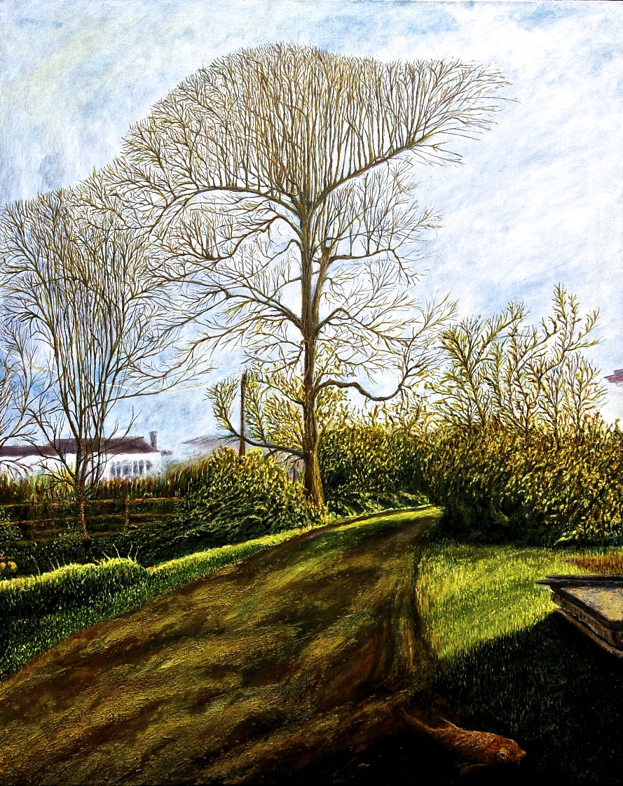 End of Winter behind my House, oil on canvas