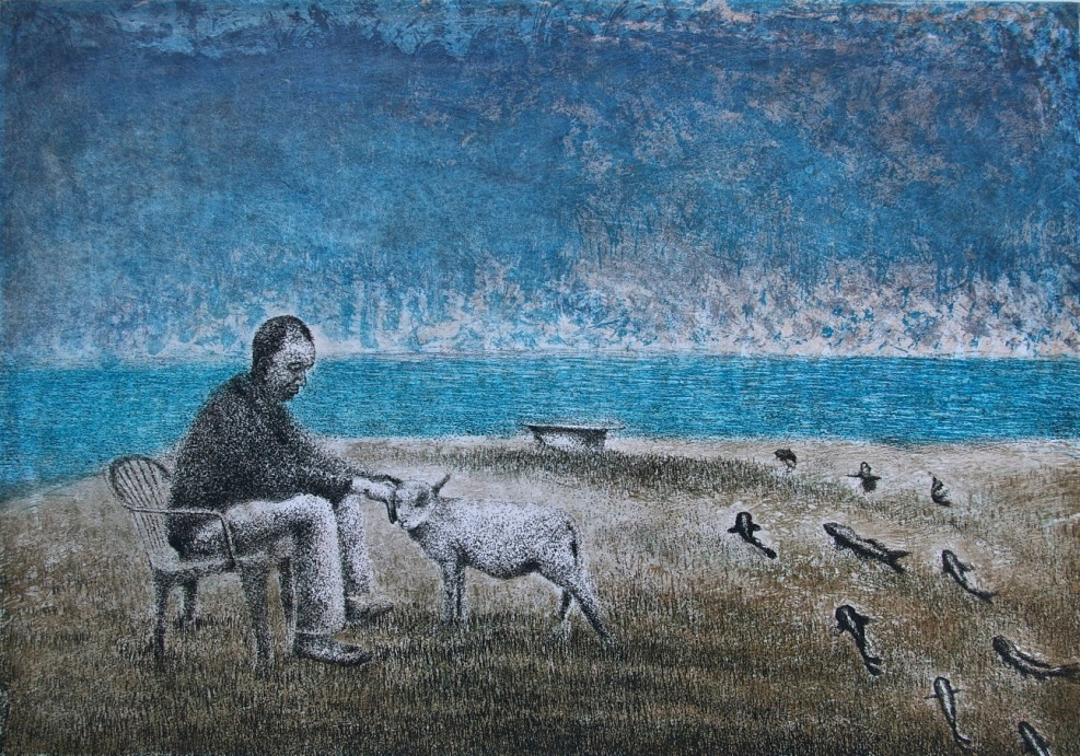Compassion, etching and aquatint, 41.5 x 58.8 cm, edition of 50.