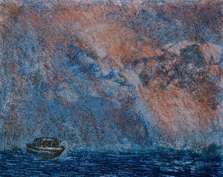 At Sea, etching and aquatint, 12 x 15 cm, edition of 55