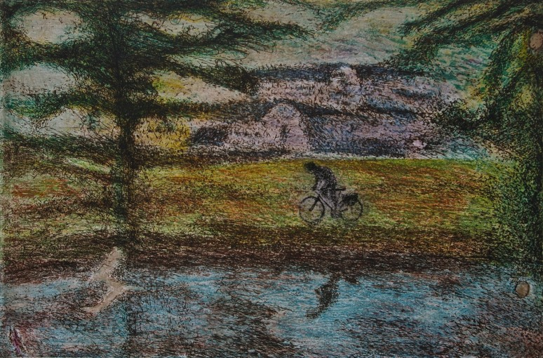 Home from School, etching and aquatint, 33 x 50 cm, edition of 55