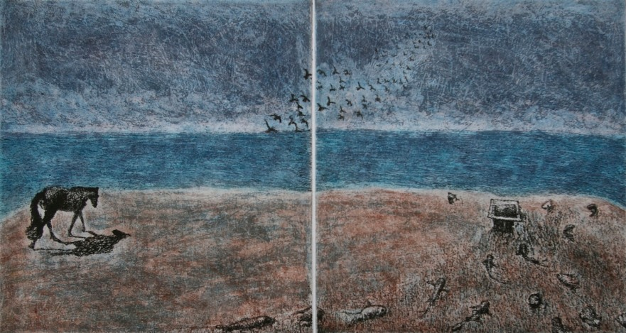 Homeward, etching and aquatint, 24 x 44.5 cm, edition of 55