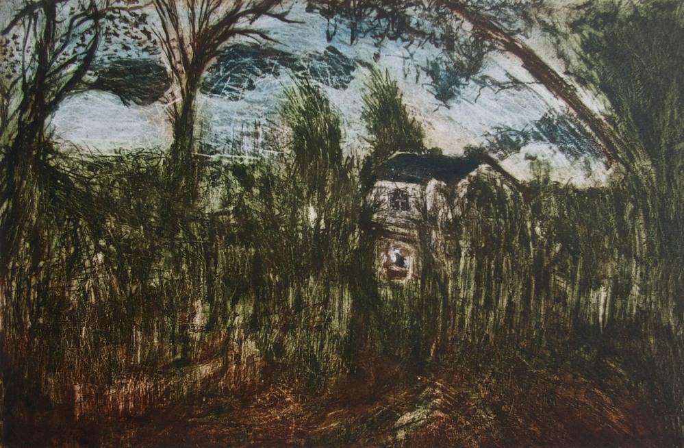 My Lovely Hidden House where My Studio is, May it Last Forever, aquatint, 33 x 50 cm, edition of 10