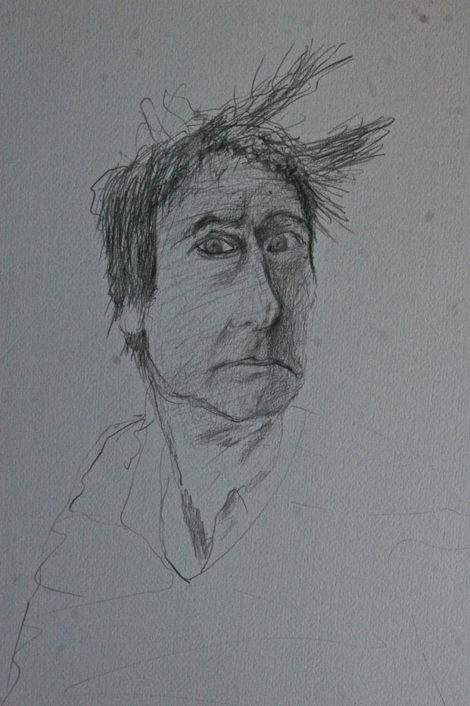 Mood 1, graphite on paper, 50 x 35 cm