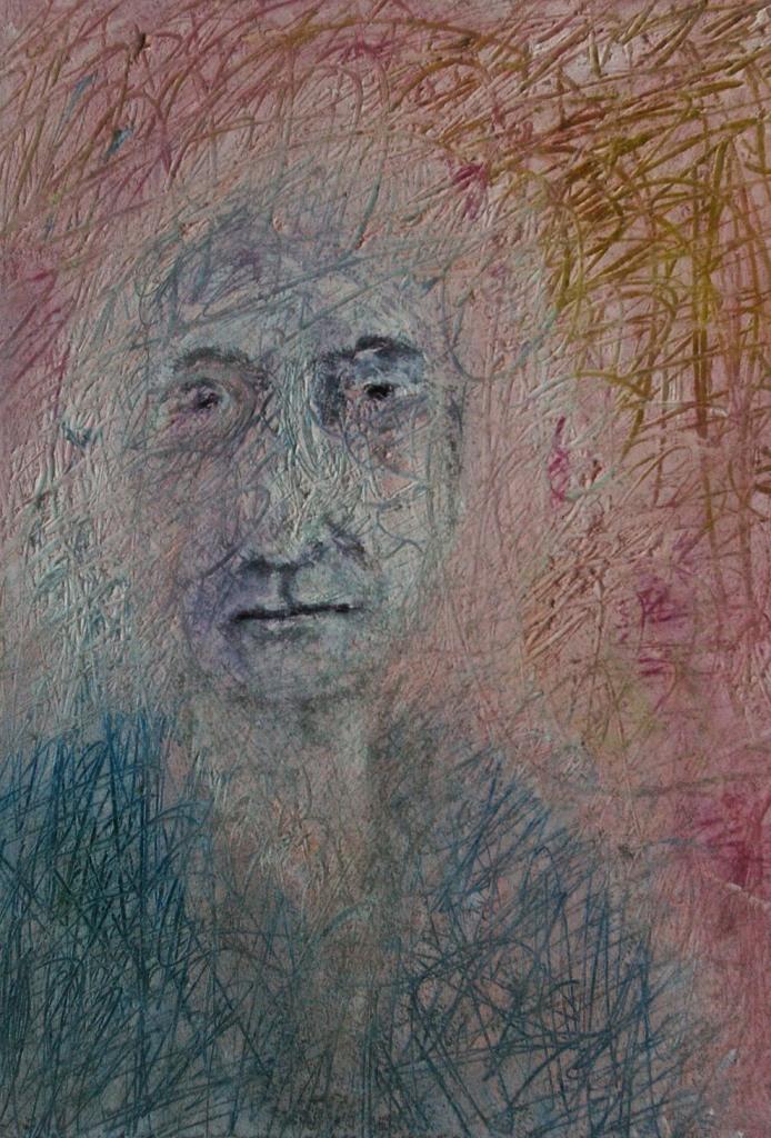 Mood 5, oil on paper, 27 x 20 cm