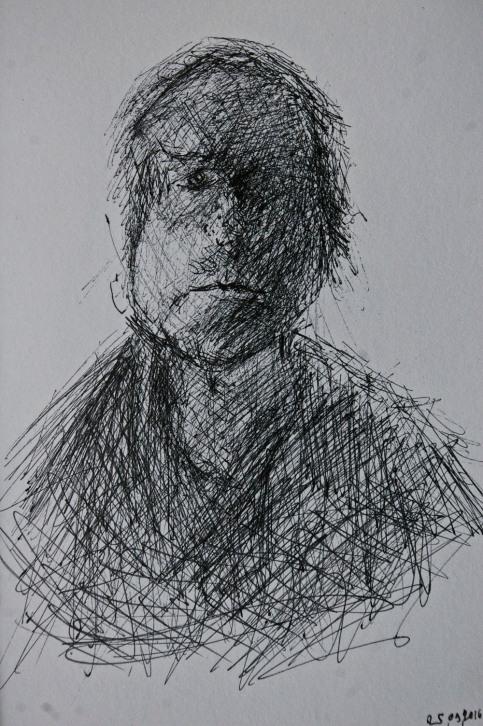 Wonder mood , ink on paper, 15 x 10 cm