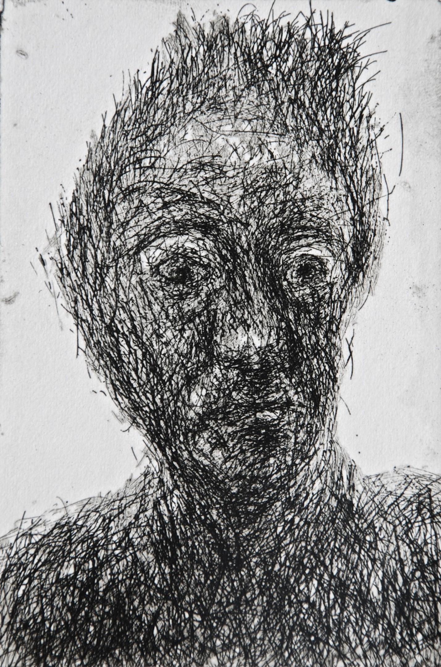 Mood 25, multi-states etching, 10.5 x 7 cm