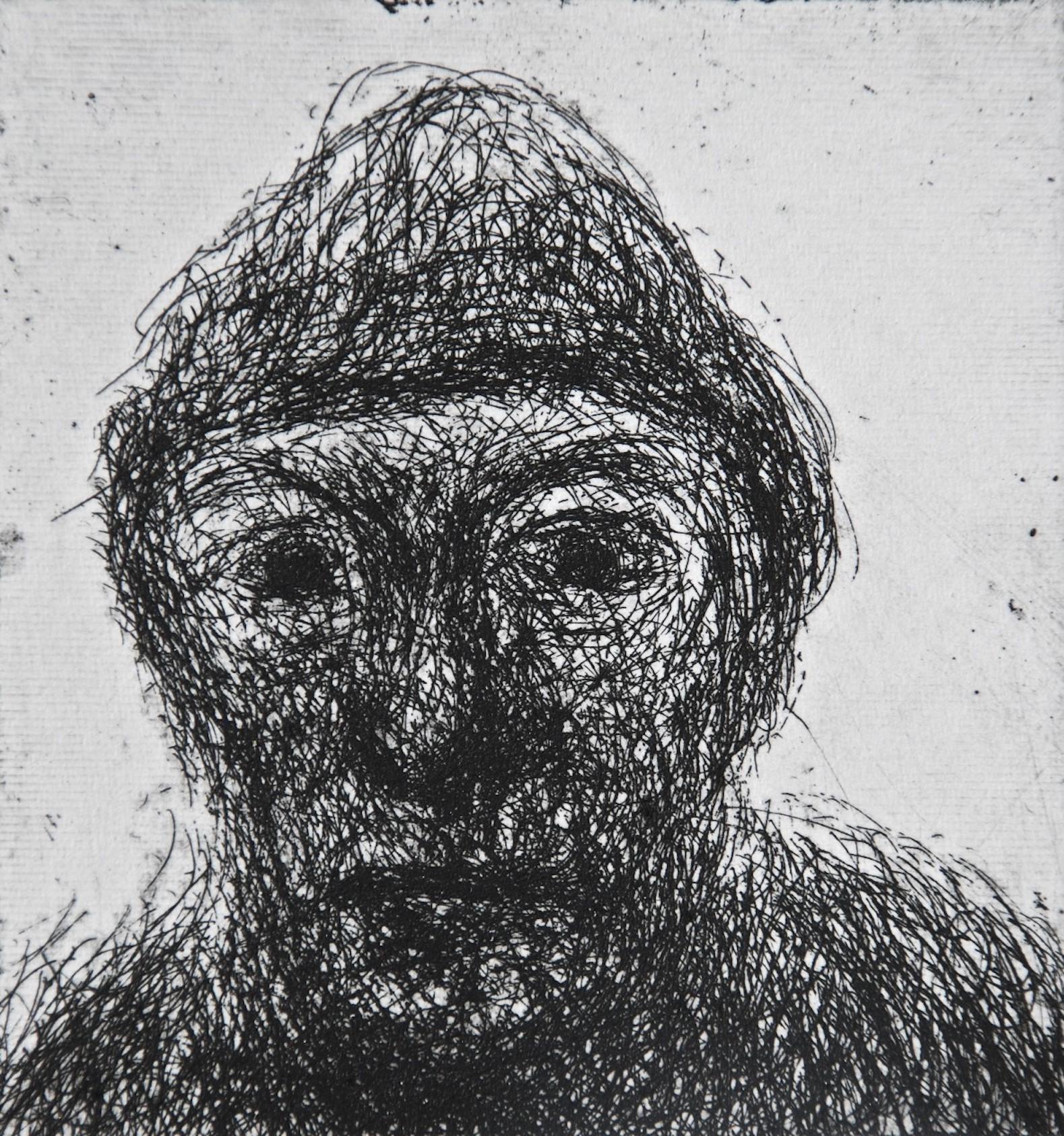 Mood 26, multi-states etching, 8.5 x 8 cm