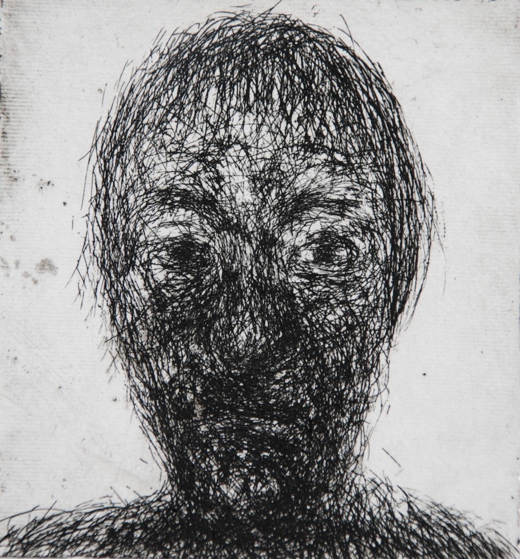 Mood 27, multi-states etching, 9 x 8 cm