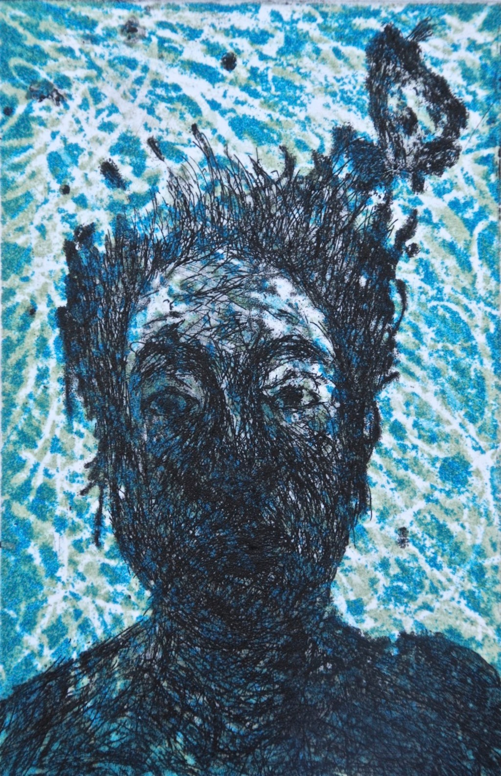 Silent Mood with Fish, etching and aquatint, 12 x 8 cm, edition of 40